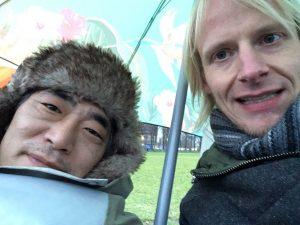 Selfie van Caspar en Jeroen